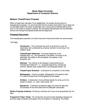 Master thesis proposals on computer science