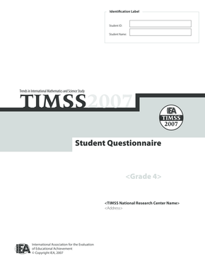 Student Questionnaire - TIMSS and PIRLS Home