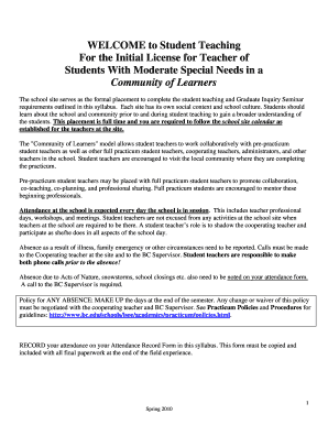 Printable Special Education Daily Lesson Plan Template Fill Out - Lesson plan template for special needs students