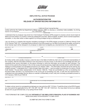Inf 1101 fill online printable fillable blank pdffiller for Nc division of motor vehicles driving log