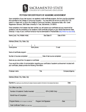 17 printable certificate of achievement college forms and templates