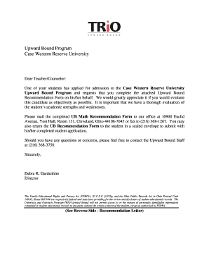 Frostburg State University Letter Of Recommendation