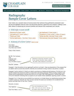 cover letters for radiographers form