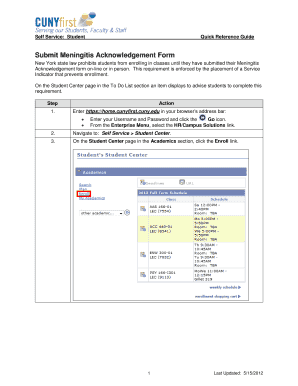 Acknologement Meningitis - Fill Online, Printable, Fillable, Blank ...