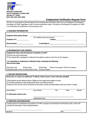 request for employment verification
