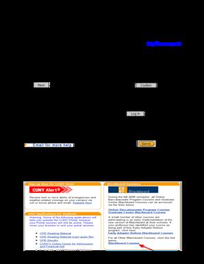 Fillable Online websupport1 citytech cuny Blackboard Tutorial for