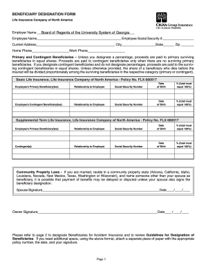 beneficiary form template Beneficiary Form Template - Fill Online, Printable, Fillable, Blank ...