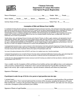 participation waiver template - bill of sale form south carolina assumption of risk waiver