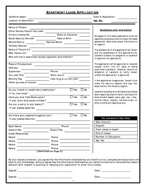 Alabama Apartment Lease Rental Application Questionnaire
