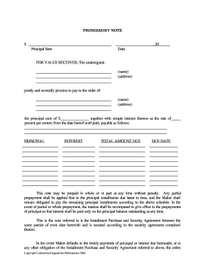 Simple Promissory Note No Interest Forms And Templates Fillable - Promissory note no interest template