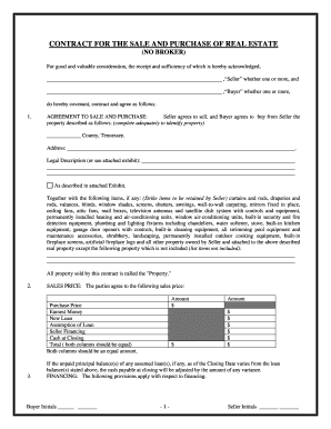 real estate purchase agreement tn form