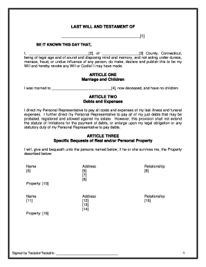 bill of sale form connecticut last will and testament sample templates fillable printable. Black Bedroom Furniture Sets. Home Design Ideas