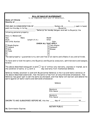 Bill Of Sale Illinois >> Illinois Motor Vehicle Bill Of Sale Form Templates Fillable