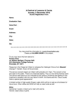 Choir Registration Form