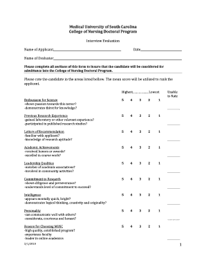 evaluation sheet for phd form