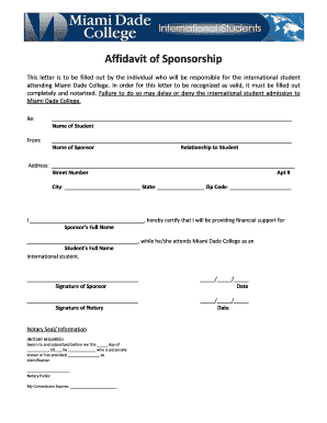 xas dade form affidavit letter for immigration marriage example