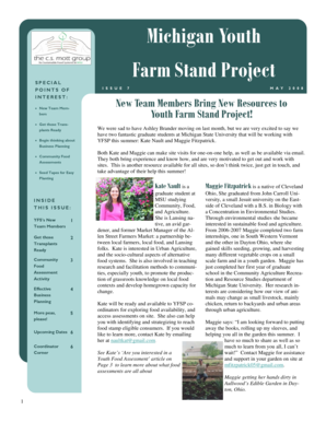 YFSP Newsletter_05_08.pub - Youth and Community Food  - miyouthandfood msu