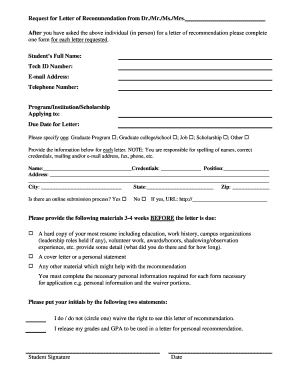 Request for Letter of Recommendation Form for Dr - MavDISK - mavdisk mnsu