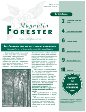 February - College of Forest Resources - Mississippi State University - cfr msstate