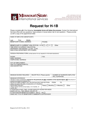 Request For H 1B Labor Condition Application