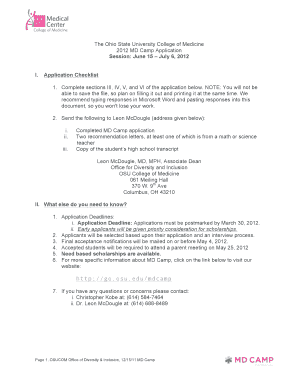 Complete sections III, IV, V, and VI of the application below - medicine osu