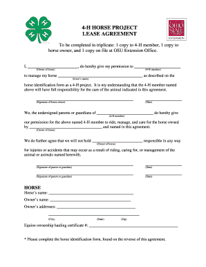 27 Printable Horse Lease Agreement Forms And Templates