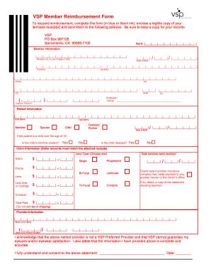 Vsp Reimbursement Form - Fill Online, Printable, Fillable, Blank ...