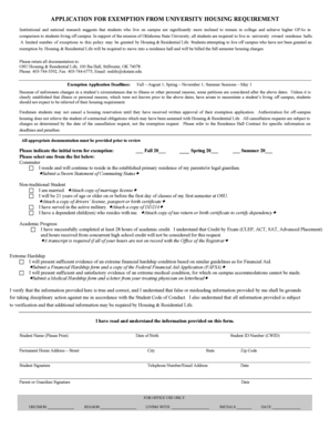 reslife okstate Fillable Online reslife okstate Exemption Application - OSU ...