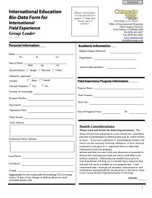 international cv format doc - Editable, Fillable & Printable