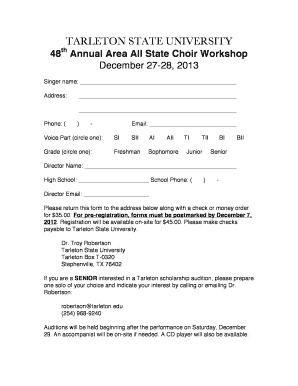 Choir membership form sample fill online printable fillable choir membership form sample thecheapjerseys Images