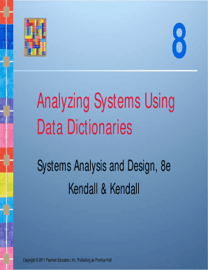 System Analysis And Design Kendall 8th Edition Pdf Fill Online Printable Fillable Blank Pdffiller