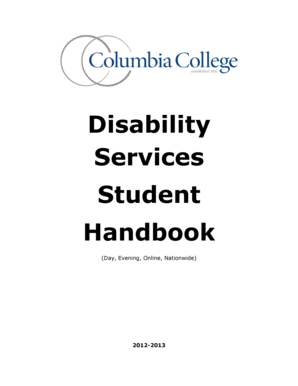 Disability Services Student Handbook - Columbia College - web ccis