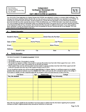 Printables Printable Fafsa Worksheet v5 worksheet troy university form fill online printable fillable related content fafsa