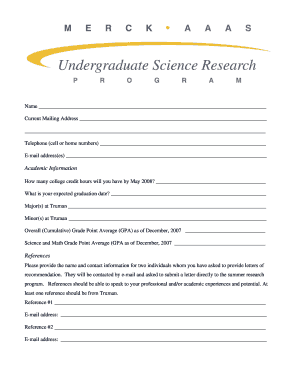 Edit fill out print download online templates in word pdf personal information truman state university chemlab guide spiritdancerdesigns Images