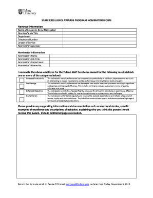 employee award nomination form template