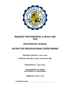 REQUEST FOR PROPOSAL # 2010-6-1528 FOR Wired Network ... - www3 uakron