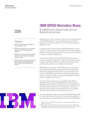 IBM SPSS Statistics Base - OIT Fill Online, Printable, Fillable
