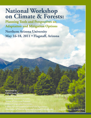 National Workshop on Climate & Forests: - Environment and ... - portal environment arizona