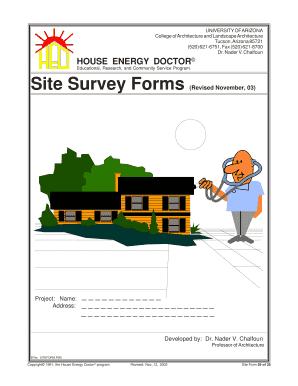 fillable online capla arizona site survey forms college of