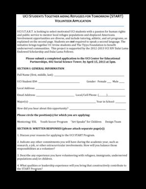Uci application essay