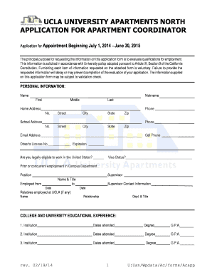 Ucla Application - Fill Online, Printable, Fillable, Blank