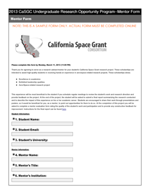 UROP-2012-2013-Sample-Mentor-Form - California Space Grant ... - casgc ucsd