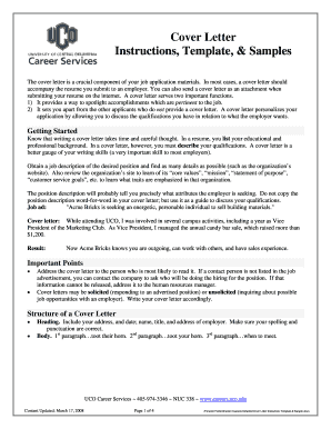 cover letter for uco job form