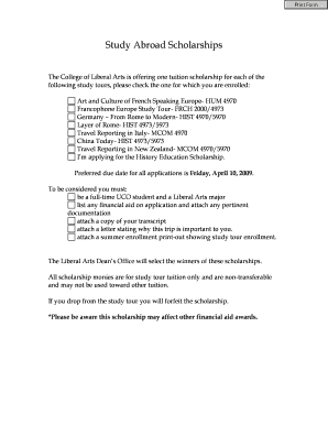 Edit print download fillable templates in word pdf study abroad scholarships college of liberal arts altavistaventures Choice Image