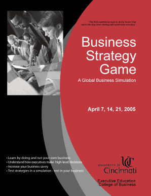 Business Strategy Game: A Global Simulation - University of Cincinnati