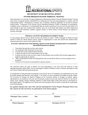 Fillable Personal Trainer Waiver Forms - Fill Online, Printable ...