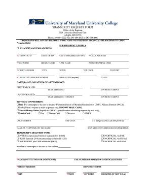Transcript Request Form   UMUC Asia   Asia Umuc