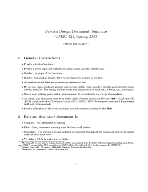 sdd template ieee - system design document template fill online printable