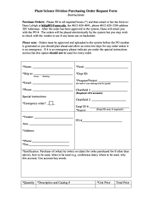 Purchase Order Request Form 1 1  Purchase Order Template Doc