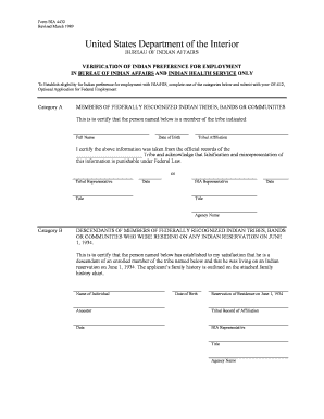 Indian Preference Form 4432 - Fill Online, Printable, Fillable ...